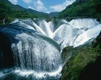 Жемчужный водопад, провинция Сычуань, Китай