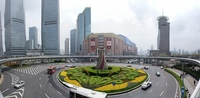 Пудонг — кольцевой пешеходный мост Шанхая