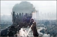 Силуэты людей на фоне Пекине (ФОТО)