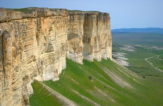 Памятник природы Белая Скала в Крыму (Ак-Кая)