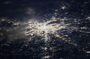 Города России ночью — вид из космоса (МКС)