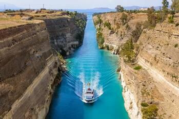 Коринфский канал (Corinth Canal) — с 2-тысячной историей попытки строительства