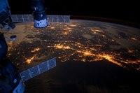 Фото ночных городов из космоса