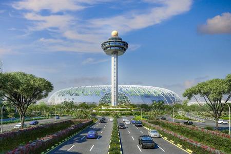 Терминал-сад Jewel в сингапурском аэропорту Чанг