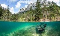 Зеленое озеро в Австрии (15 фото)