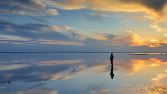 Соленое озеро Эльтон. Крупнейшее минеральное озеро Европы