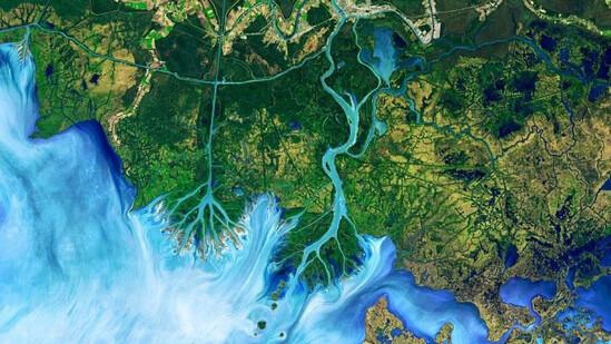 10 необычных снимков Земли, сделанных спутниками Landsat