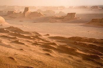 Пустыня Лут (Дашт-э Лут) — самое жаркое место на земле