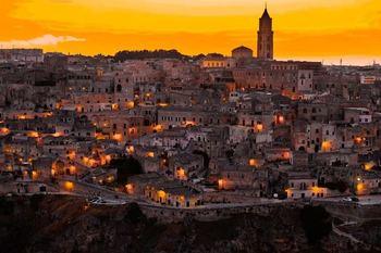 Город Матера. Итальянский регион Базиликата